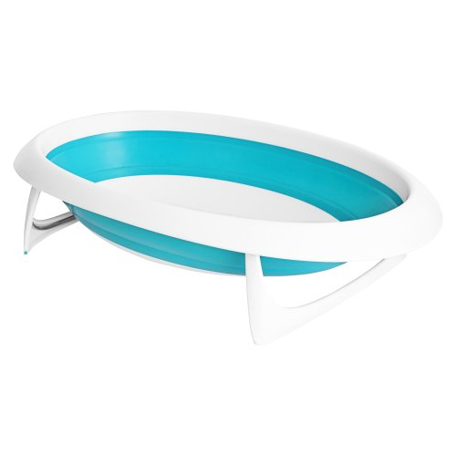 Boon Naked Collapsible Baby Bathtub BlueBlueWhite 0 - Boon Naked Collapsible Baby Bathtub Blue,Blue/White