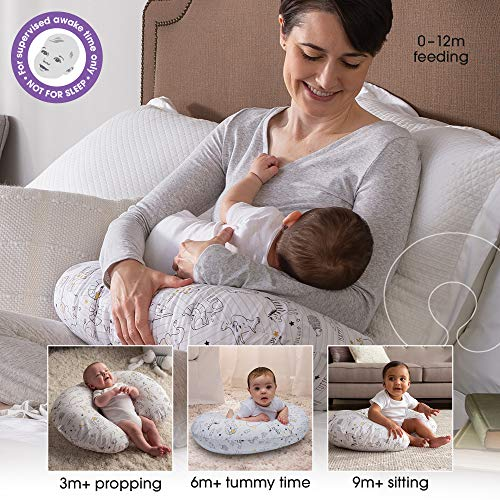 Boppy Nursing Pillow and Positioner 0 3 - Boppy Original Nursing Pillow and Positioner, Notebook Black and Gold, Cotton Blend Fabric with allover fashion