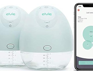 Elvie Pump Double Silent Wearable Breast Pump with App Electric Hands Free Portable Breast That Can Be Worn in Bra 0 380x293 - Elvie Double Electric Wearable Smart Breast Pump - Silent Hands-Free Portable Breast Pump That Can Be Worn in-Bra with…