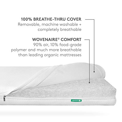 Newton Baby Essential Crib Mattress and Toddler Bed 100 Breathable Proven to Reduce Suffocation Risk 100 Washable 2 Stage Non Toxic Better Than Organic Removable Cover Included White 0 3 - Newton Baby Essential Crib Mattress and Toddler Bed - 100% Breathable Proven to Reduce Suffocation Risk, 100% Washable…