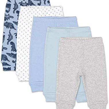 The Peanutshell 5 Pack Pants Set for Baby Boys Sizes Newborn to 24 Months 0 380x380 - The Peanutshell 5 Pack Pants Set for Baby Boys | Blue, Grey, Dinosaur | Sizes Newborn to 24 Months